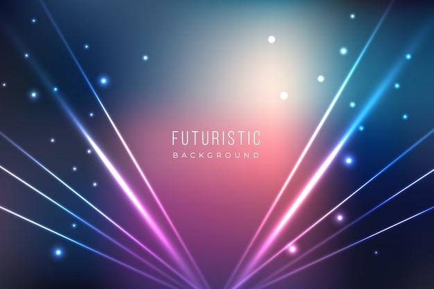 Futurystyczne tło z efektami świetlnymi