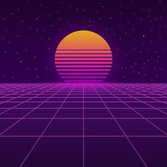 Futurystyczne tło z lat 80.