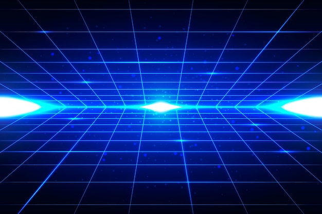 Futurystyczne tło z niebieskimi kształtami