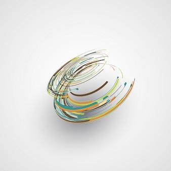 Futurystyczny abstrakcyjny kształt