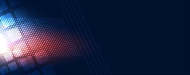 Futurystyczny baner technologii cyfrowej do celów internetowych