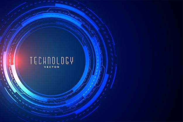 Futurystyczny baner wizualizacji danych technologicznych