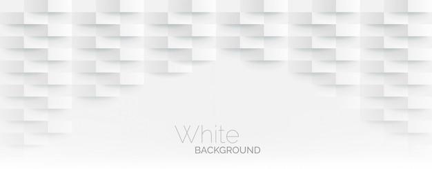 Futurystyczny biały papier rogi mozaiki białe tło. realistyczna tekstura prostokąta siatki geometrycznej. streszczenie biała tapeta z sześciokątną siatką