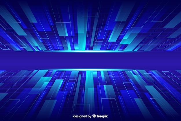 Futurystyczny cyber horyzont tło