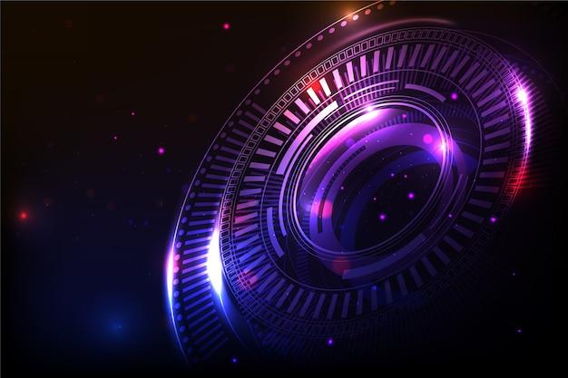 Futurystyczny cyberprzestrzeni pojęcia tło