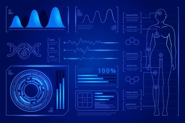 Futurystyczny design infographic medyczne
