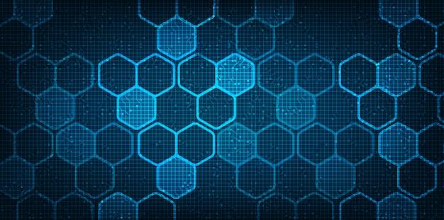 Futurystyczny digital circuit network background
