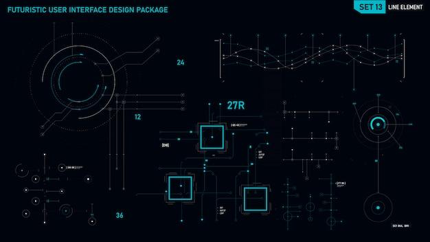 Futurystyczny element interfejsu użytkownika