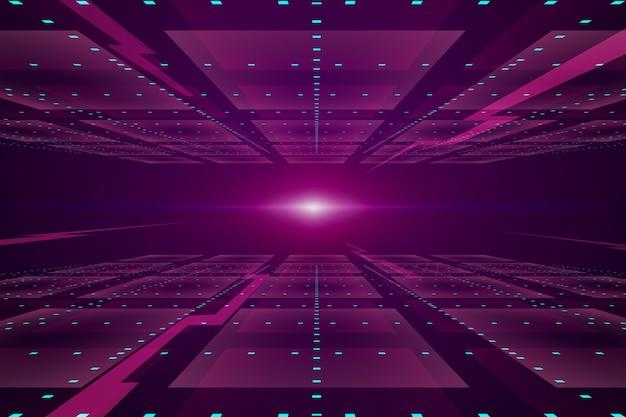 Futurystyczny horyzont różowy tło