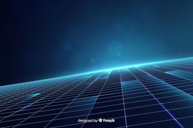 Futurystyczny horyzont tło z nowoczesnymi kształtami