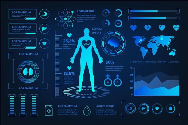 Futurystyczny infographic medyczne