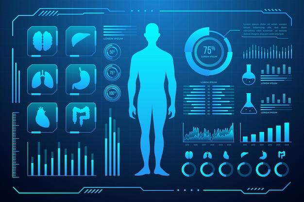 Futurystyczny Infographic Medyczne Darmowych Wektorów