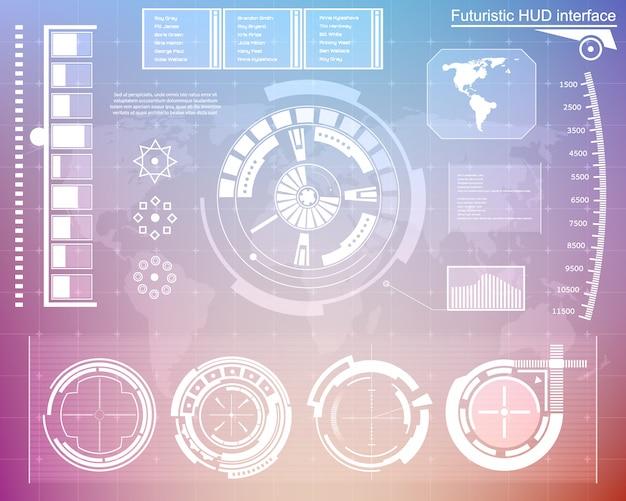 Futurystyczny interfejs technologiczny interfejs użytkownika hud.