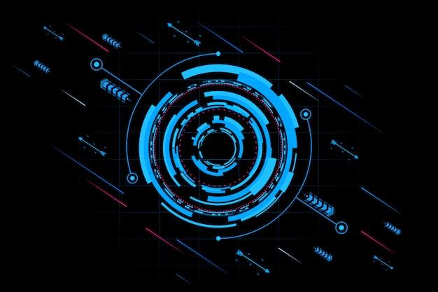 Futurystyczny interfejs technologii abstrakcyjnej. element cyfrowego interfejsu użytkownika