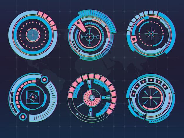 Futurystyczny interfejs technologii interfejs użytkownika hud