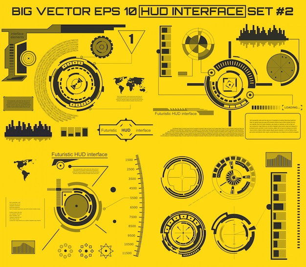 Futurystyczny interfejs technologii interfejs użytkownika hud.