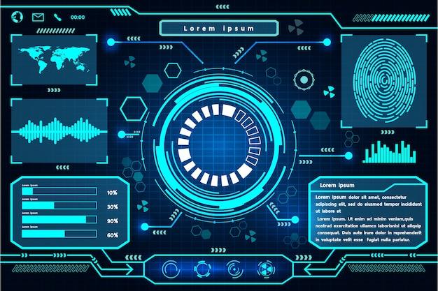Futurystyczny interfejs technologii projektowania