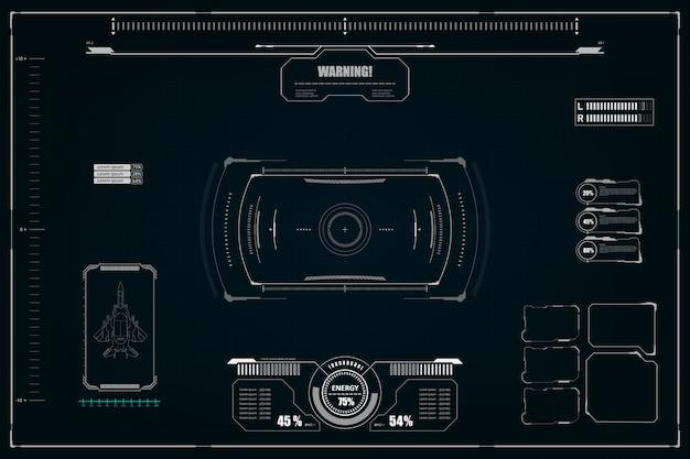 Futurystyczny interfejs użytkownika scifi