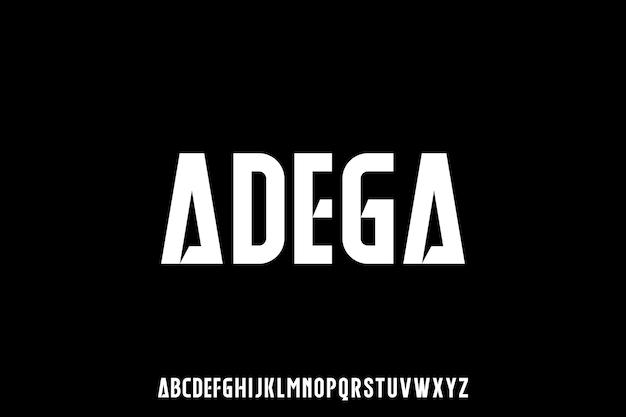 Futurystyczny nowoczesny zestaw czcionek alfabetu