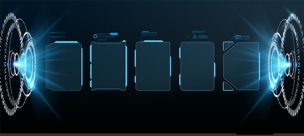 Futurystyczny projekt ekranu interfejsu hud wektorowego