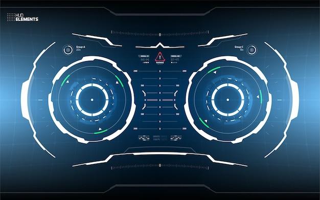 Futurystyczny projekt ekranu interfejsu użytkownika.