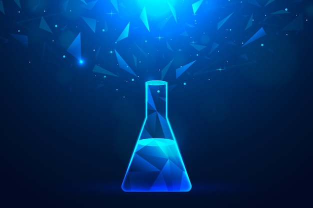 Futurystyczny projekt laboratorium naukowego tło