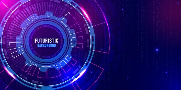 Futurystyczny streszczenie technologia cyfrowe tło z niebieskim światłem fioletowym