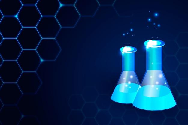 Futurystyczny styl tło laboratorium nauki