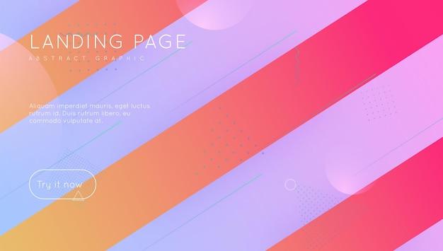 Futurystyczny sztandar. jasny papier. strona docelowa 3d. minimalne elementy
