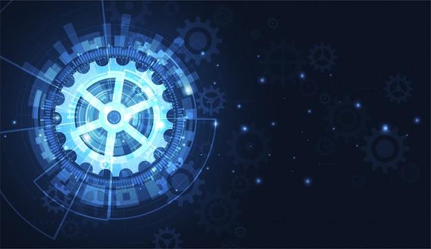 Futurystyczny sztandar technologii, technologia cyfrowa
