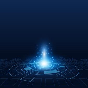 Futurystyczny technologia tło wektor nauki