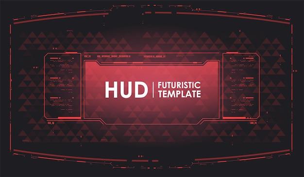 Futurystyczny wyświetlacz vr. ekran technologii rzeczywistości witrualnej. tech streszczenie szablon tło. futurystyczne tło hud.