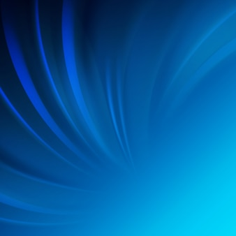 Gładka, niebieska fala.