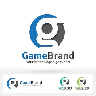 G letter brand logo, g list w okręgu z płaskim cieniem
