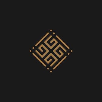 G monogram logo i ikona koncepcja