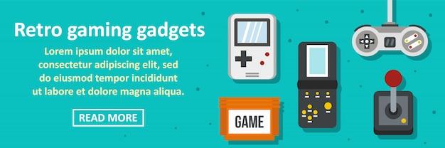 Gadżety do gier retro transparent poziomy koncepcja
