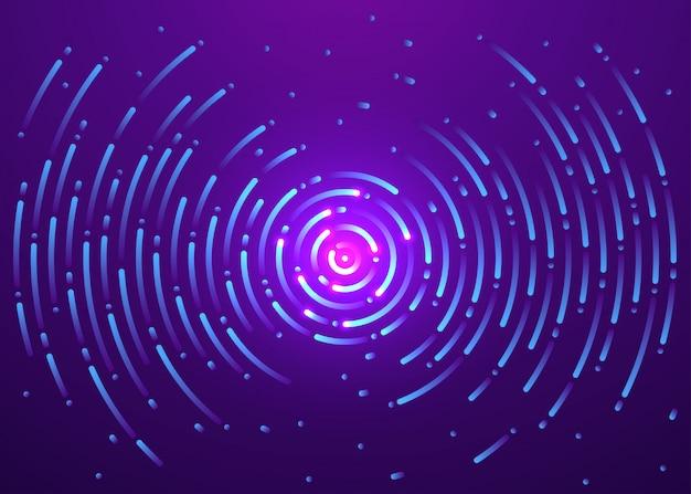 Galaktyka wszechświatowa w ruchu, abstrakcyjne tło