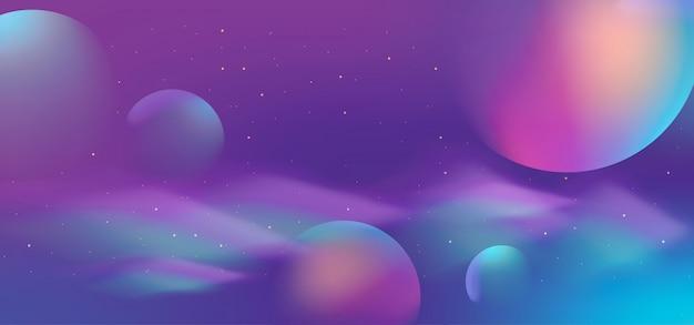 Galaktyki abstrakcjonistyczny tło z gradientowym kolorowym stylem