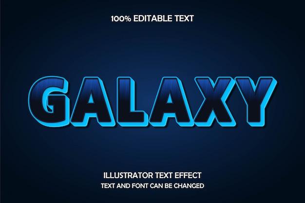 Galaxy, edytowalny efekt tekstowy w nowoczesnym stylu neonowym
