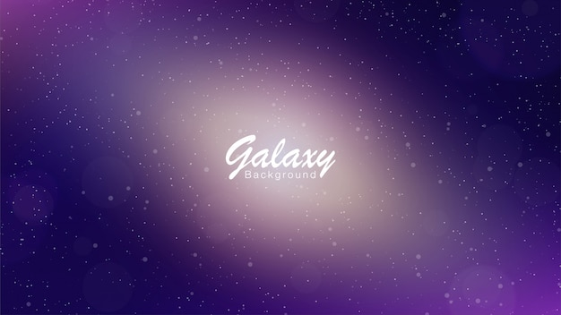 Galaxy fioletowe tło