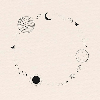 Galaxy ozdobiona minimalistyczną ramką graficzną