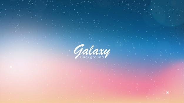 Galaxy różowy i niebieski tło