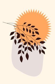 Gałąź roślinna i proste kształty