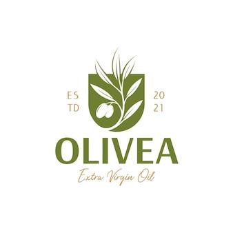 Gałązka oliwna z logo tarczy
