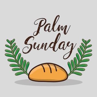 Gałązki palmowe i chleb tradycyjna religia katolicka