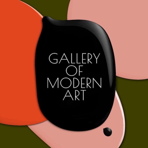 Galeria sztuki nowoczesnej szablon wektor kolor farby abstrakcyjne media społecznościowe ad social