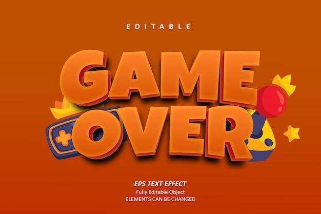 Game over orange text effect edytowalny