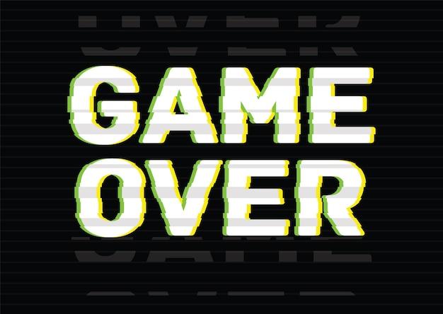 Game over ostatnia fraza, wiadomość, napis lub napis napisany kreatywną czcionką na czarnym tle