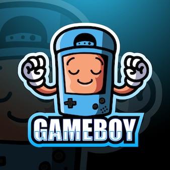 Gameboy maskotka esport ilustracja