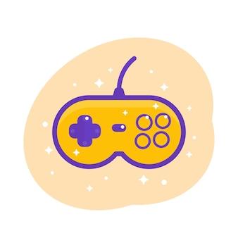 Gamepad, Ilustracja Wektorowa Kontrolera Gier Retro Premium Wektorów